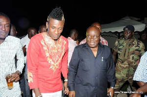 President Akufo-Addo and Asamoah Gyan