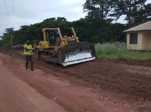 Gabriel Osei cuts sod for construction of 21km Bituminous surfacing of the Nsuhunu to Bepoase road