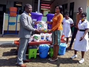 Bortianor polyclinic receives items to combat coronavirus