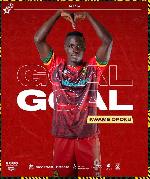 Kotoko forward Kwame Opoku dedicates goal against Berekum Chelsea to birthday boy Felix Annan