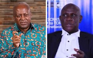John Dramani Mahama and Nana Obiri Boahen