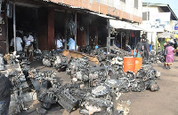 A photo of spare parts at Abbosey Okai