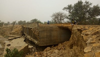 The entire ECOWAS road leading to the university is about to be washed away