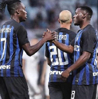 Kwadwo Asamoah played his first match for Inter Milan on Saturday