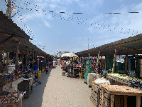Shot of the inner lanes of the existing Shukura market in Accra