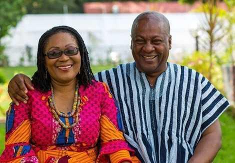 President John Mahama and wife