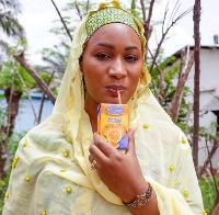Samira Bawumia enjoying her Kalyppo