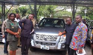 Sir John and Benito Owusu-Bio outdooring new Kantanka vehicles