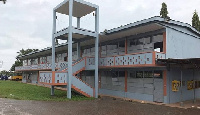 One of the classroom blocks put up by the old students