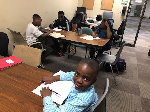 Some students of the GCAO Homework Club in Toronto