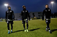 Gideon Mensah and Winfred Amoah with a teammate