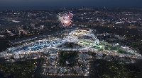 Rendering of the new mega-city to be built for the Dubai Expo 2020