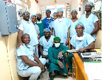 The team of specialist and consultant obstetrician-gynaecologists performing the surgeries.