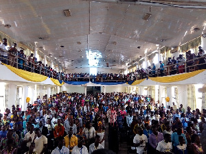 A section of the audience at 2019 National Youth Conference of the Churches of Christ