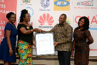 Robert Kuzoe dedicated the award to the board of MTN Ghana Foundation