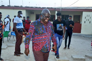 A file photo of Accra Hearts of Oak MD Frederick Moore at the family house of Benjamin Afutu