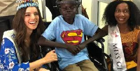 Miss World, Vanessa Ponce de Leon interacted with the children during her visit
