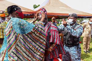 Kwaku Asomah-Cheremeh was conferred upon the title 'Shuwawura'
