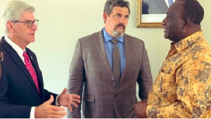 Phil Bryant, the United States Governor of Mississippi with Trade Minister, Alan Kyeremanten