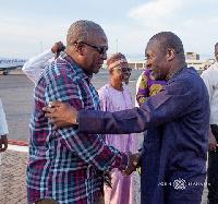 John Dramani Mahama and Alban Bagbin