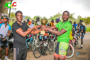 Lawrence Agyei Rides For The Gladiators Cycling Club