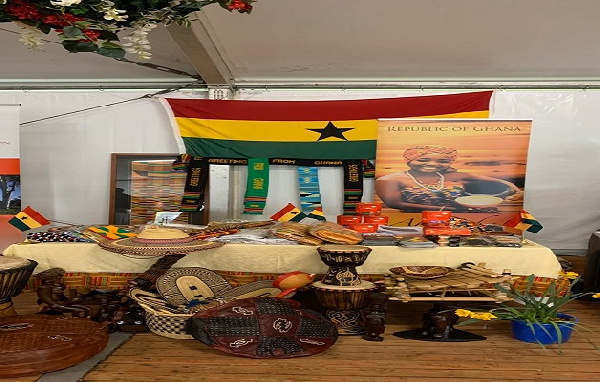 Ghanaian-made artefacts on display