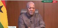 Flagbearer of the NDC, John Dramani Mahama