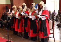 Some Ghanaian Judges pledging their allegiance to serve mother Ghana