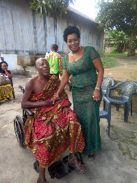 MP for Agona East, Hon. Queenstar Pokuah Sawyer with Super OD