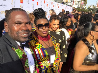Ambassador Diallo Sumbry on the red carpet at the 50th NAACP Image Awards