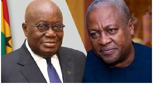 Akufo-Addo and Johnn Mahama