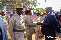 Vice President Dr Mahamudu Bawumia exchanging pleasatries with some Ex-Servicemen