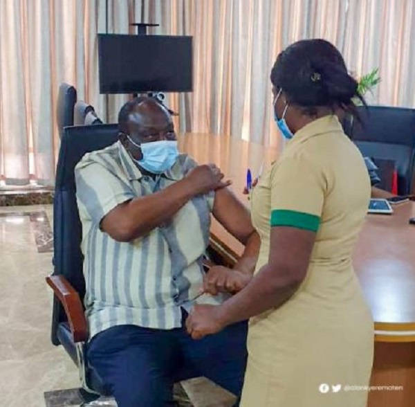 I took my jab, coronavirus vaccine safe – Alan Kyerematen