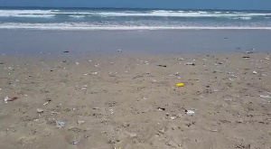 Filth has engulfed the shoreline of the beach