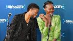 Lupita Nyong'o and Chadwick at SiriusXM studios