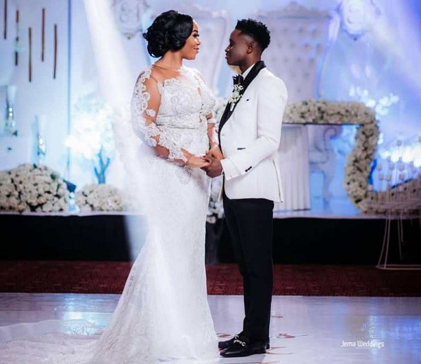 Footballer Evans Mensah and wife, Justina Amoabeng