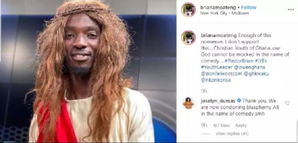 Stop condoning blasphemy in the name of comedy – Joselyn Dumas