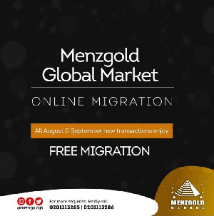 The new online company is called Menzgold Global Market