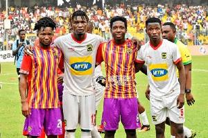 Asante Kotoko and Accra Hearts of Oak players