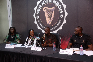 Dr Ibrahim Mohammed Awal speaking at the launch of a loyalty programme by Guinness Ghana