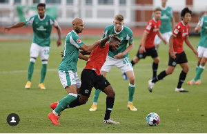 Patrick Twumasi in action for Hannover