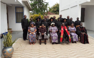 A Group Picture of Commissioned Pastors with the Standing Committee of EPCG