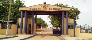 The main entrance to the Kumasi Academy Senior High School
