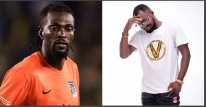 Footballer Adebayor and Funny Face