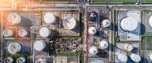 An oil storage site