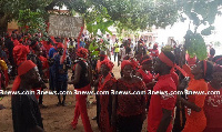 Cocoa farmers in the municipality  mounted a strong protest against the sale of their farmlands
