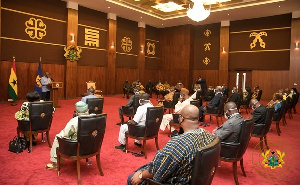 President Akufo-Addo in a meeting with the Council of State