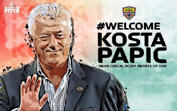Official: Hearts of Oak appoint Kosta Papic as the new head coach
