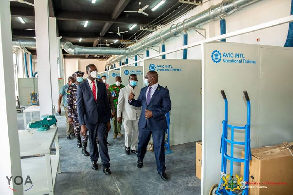 Education Minister inspects ongoing projects at Cape Coast Technical University