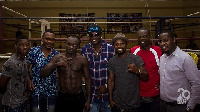 Asamoah Gyan paid Gameboy a visit at the gym